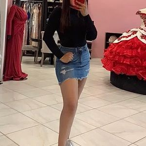 Super stretchy denim skirt